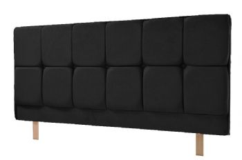 Milan Headboard in Faux Suede Black, Brown or Stone